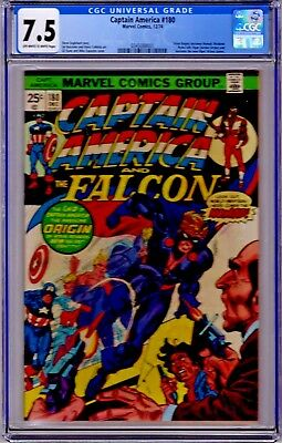 CAPTAIN AMERICA #180 - CGC 7.5 - KEY ISSUE - 1st Appearance of Nomad