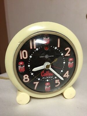 Vintage Maxwell House Coffee Alarm Clock Sign Old