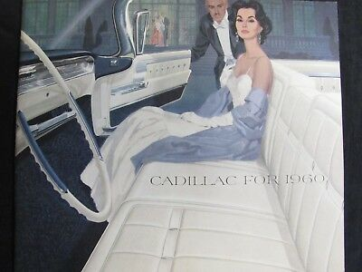 1960 CADILLAC AUTOMOBILE CAR SALES BROCHURE CATALOG 16 Pages Guide-Matic