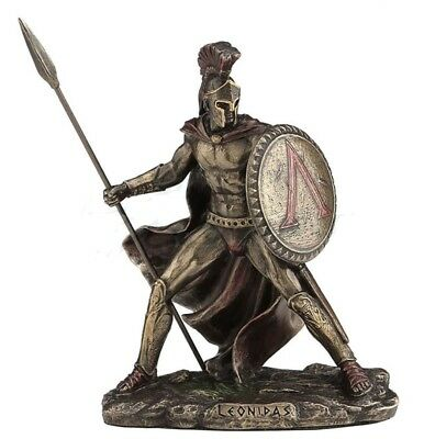 "4.25"" Leonidas Greek Warrior King Statue Sculpture Figurine Spartan Decor"