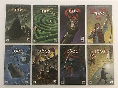 MARVEL 1602 #1, 2, 3, 4, 5, 6, 7 & 8 - Eight Book Lot - Story By Neil Gaiman