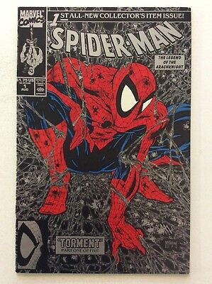 SPIDER-MAN #1 - Black Cover With Silver Webbing - Cover By Todd McFarlane