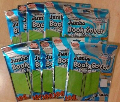 Premium Jumbo Book Covers (Lot Of 10) Xxl Super Stretchy (Color: Lime Green)