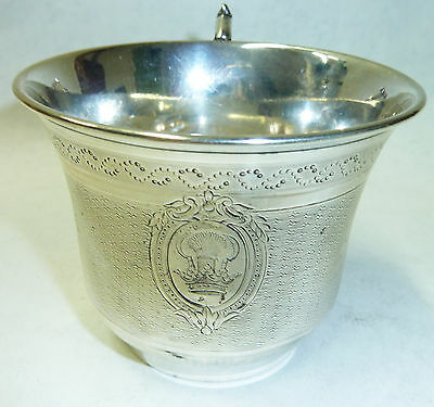Antique 19th Century French Fully Hallmarked 950 Solid Silver Cup - 111g