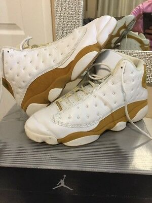 4b4273f6e5f1 10 Air Jordan XIII 13 2004 Retro Wheat white 309259-171 max leather flint og