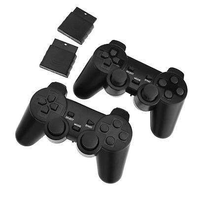 2 x Wireless Dual Controllers For PS2 Joypad Gamepad Consoles With Receiver SD