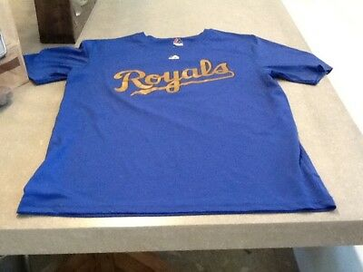 size 40 6926f 116e1 ERIC HOSMER KANSAS City Royals Majestic World Series Champions Gold Jersey  Shirt