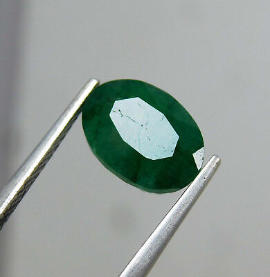 Natural 2.60 Cts. Beautiful Oval Cut Colombian Loose Emerald Gems.10916 AM