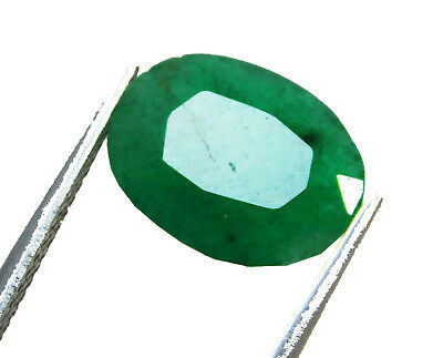 Natural 5.85 Cts. Beautiful  Oval Cut Colombian Loose Emerald Gems. 10982