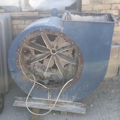 Large 3 Phase Electric - Heavy Duty Ballista Paddle Fan - Dust Extraction 5.5Kw