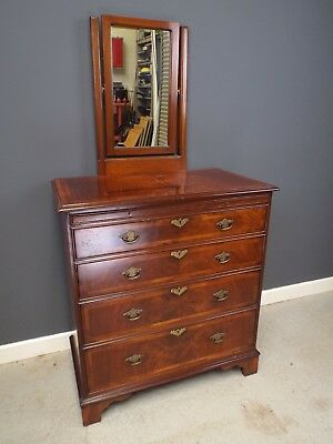 Fine Quality Brights of Nettlebed Georgian Style Dressing Chest of Drawers