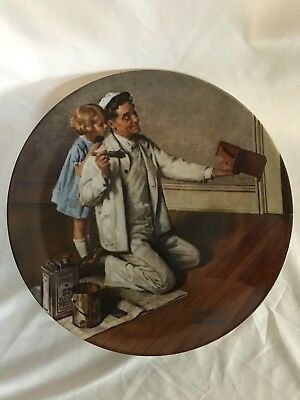 8 Norman Rockwell Collectors Decorative Plates
