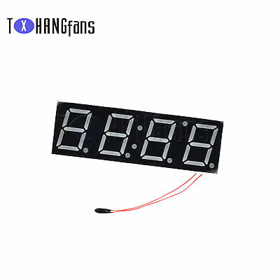 "0.56/"" White Digital Module Display Electronic Time Clock+Thermometer+Voltage ATF"