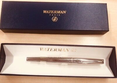 H45: Waterman Hemisphere Füllfederhalter Fountain  Pen  (M) Chrome + Etui