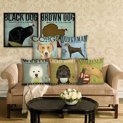 New Home Decor Dog Printed Cushion Cover Pillowcase Decorative Pillow Cover
