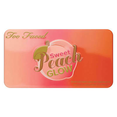 Too Faced Sweet Peach Glow 3 Shades Face Blusher Highlighter Make Up Palette