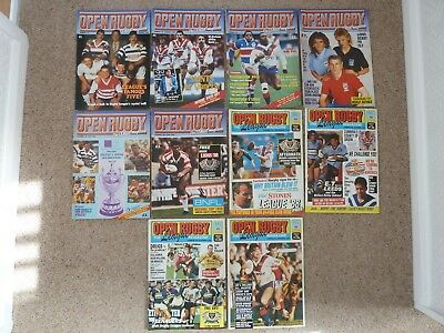 Open Rugby Magazines 1988 full year 10 issues.