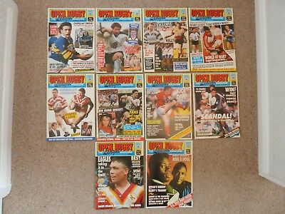 Open Rugby Magazines 1989 full year 10 issues.