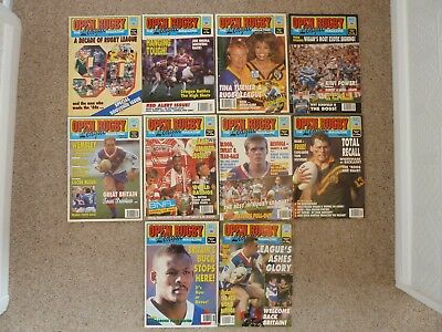 Open Rugby Magazines 1990 full year 10 issues.