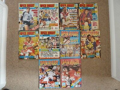 Open Rugby Magazines 1991 full year 10 issues.