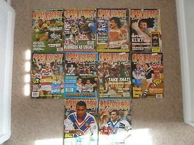 Open Rugby Magazines 1993 full year 10 issues.