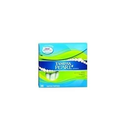 Tampax Pearl Tampons with Plastic Applicators Super Unscen (5 Packs)