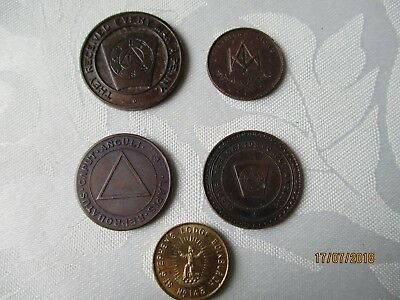 masonic lodge medals coins dunedin st stephens royal scots st leonard