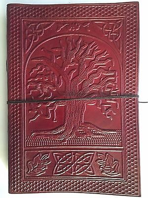 Hand Made Leather Bound Book/Journal Natural Recycled Paper-Tree of Life 25X18cm