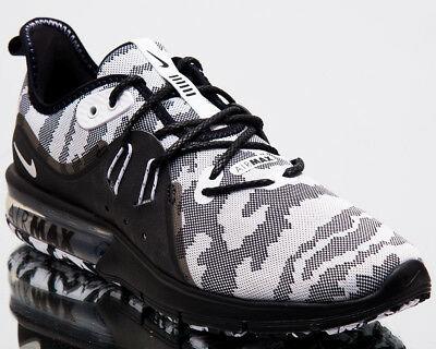 f7eeeaa55fa Nike Air Max Sequent 3 Premium Camo Men New Running Shoes Black White  AR0251-001