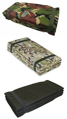 Highlander Z FOLDING SLEEPING MAT Army Military Camping Mat HMTC, CAMO, Black
