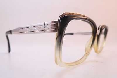 Vintage 70s white gold filled metzler eyeglasses frames 1/10 12K Germany ***