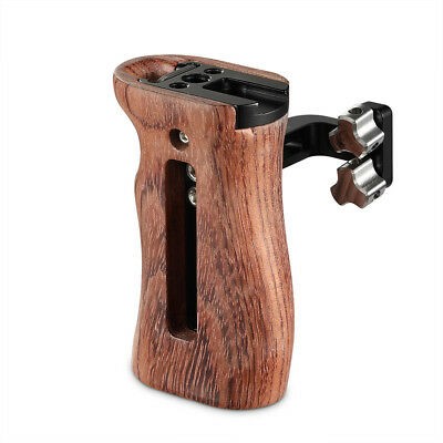 SmallRig Universal DSLR Camera Wooden Side Handle Grip with cold shoe for Cage