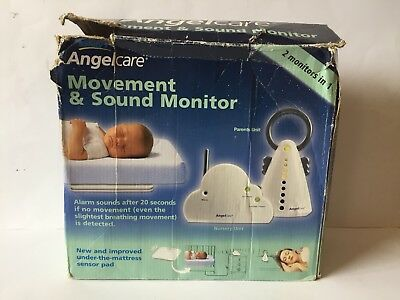 Angelcare Movement And Sound Baby Monitor (Battery Use Only Read Description)