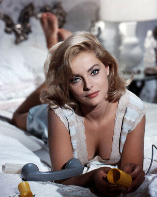 Virna Lisi Stunning Busty Pose Lying On Bed 8X10 Photo