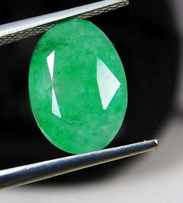 Natural 3.90 Cts. Certified Oval Cut Colombian Loose Emerald Gemstone. 515