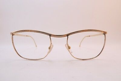 Vintage 50s gold filled eyeglasses frames AMOR made in France women's XS