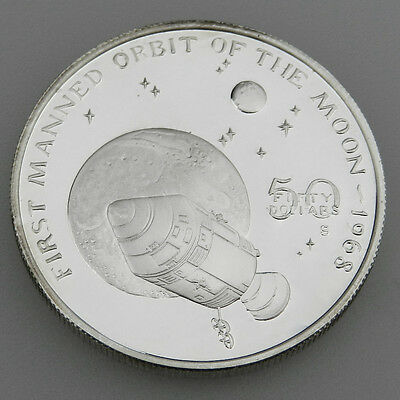 Marshall Islands 50 Dollars von 1989 First Manned of The Moon 1968 in PP - B633