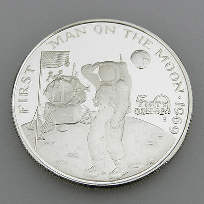 Marshall Islands 50 Dollars von 1989 First Man on The Moon 1969 in PP - B630