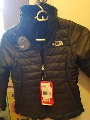 New THE NORTH FACE Girls MossBud Reversible Heatseeker Jacket: Size S $110 coat