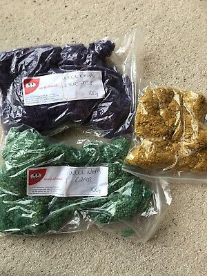 200g+ Mixed Wool Nepps - slubs, burrs for felting and spinning
