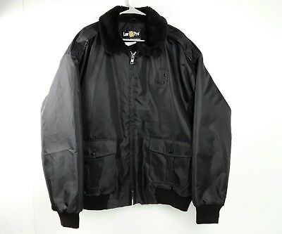 Quartermaster Law Pro Security Guard Police Classic Bomber Jacket Black XL