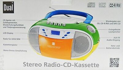 Stereo Radio CD Player Kassette bunt Dual P68-1 Boombox MP3 CD UKW / MW Standby