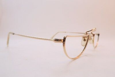 Vintage gold filled half eye reading glasses frames ALGHA 12KT made in England