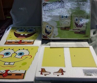 Nick Spongebob Squarepants 2-Pack Character Shelves with Original Box
