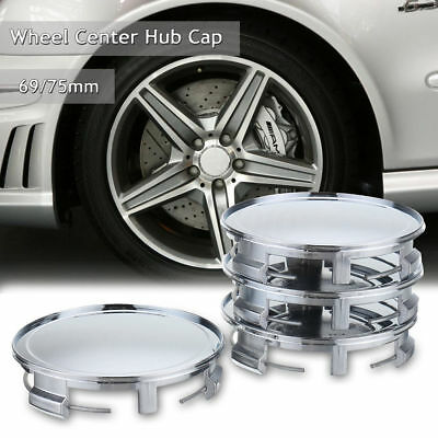 4Pcs 75mm Chrome Car Wheels Center Caps Hub Cover Cover Caps For Mercedes Benz
