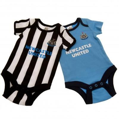 Newcastle United Bodysuit 0/3 Months 2 Pack ST Babygrow Gift Official Licensed