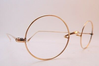 Vintage 20s eyeglasses frames gold filled saddle bridge round splendid