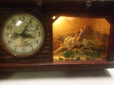 1950's Vintage Haddon Rocking Horse Motion Clock