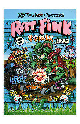 New Hot Rod Poster 11x17 Ed Big Daddy Roth Rat Fink Comix Art