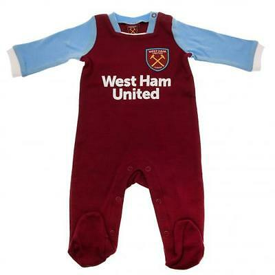 West Ham United Sleepsuit 6 / 9 Months Babygrow Gift Official Licensed Product